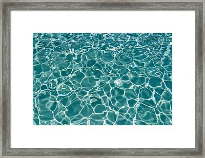 Sunlight Cool Abstract  Framed Print by Heidi Smith