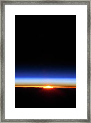 Sunlight Distorted By Earth's Atmosphere Framed Print by Nasa