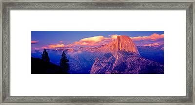 Sunlight Falling On A Mountain, Half Framed Print by Panoramic Images