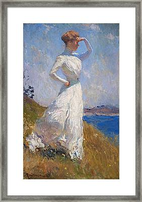 Sunlight Frank Weston Benson 1909 Framed Print