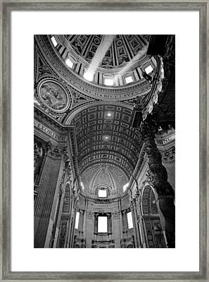Sunlight In St. Peter's Framed Print by Susan Schmitz