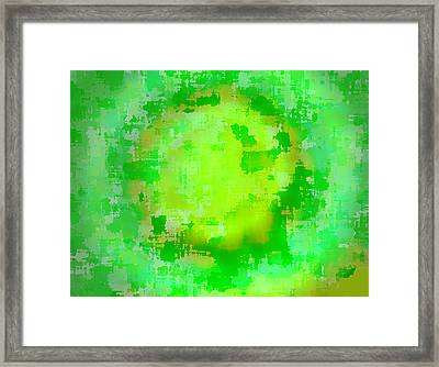 Original Abstract Art Painting Sunlight In The Trees  Framed Print