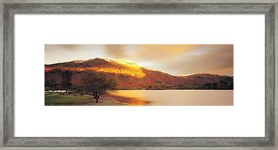 Sunlight On Mountain Range, Ullswater Framed Print by Panoramic Images