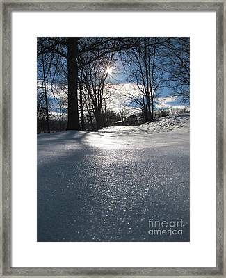 Sunlight On Snow Framed Print