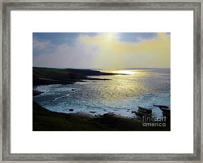 Sunlight On The Bay Framed Print