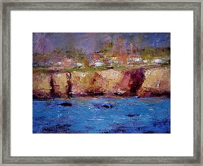Sunlight On The Cliffs Framed Print by R W Goetting