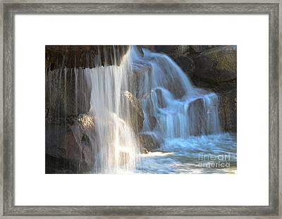 Sunlight On The Falls Framed Print by Deb Halloran