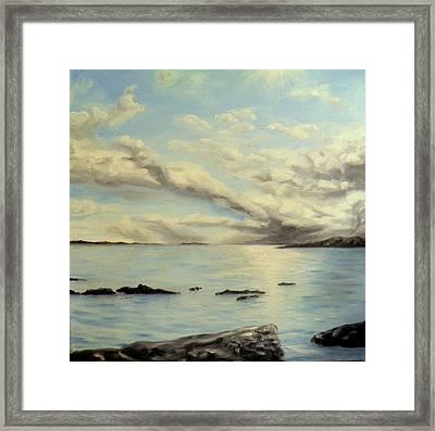 Sunlight On Water Framed Print