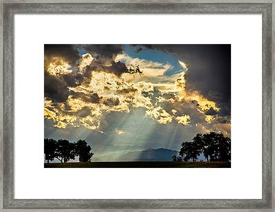 Sunlight Raining Down From The Heavens Framed Print by James BO  Insogna