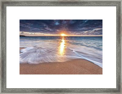 Sunlight Reflected On The Ocean Framed Print
