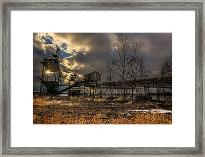 Sunlight Through A Coal Loader Framed Print