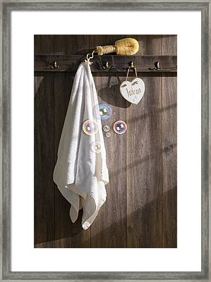 Sunlit Bathroom Framed Print