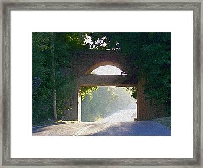 Sunlit Bridge Framed Print