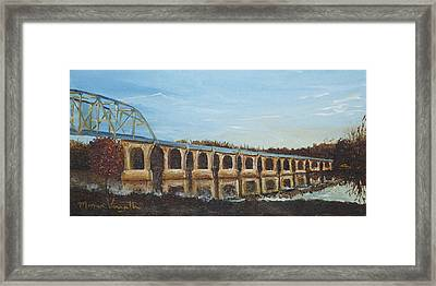 Sunlit Bridge Framed Print