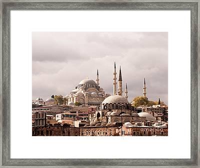 Sunlit Domes Framed Print