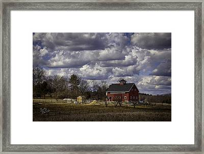 Framed Print featuring the photograph Sunlit Farm by Betty Denise