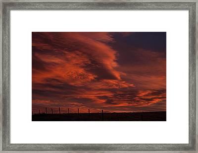 Sunlit Fire Framed Print