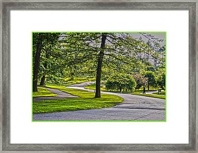 Sunlit Landscape Framed Print