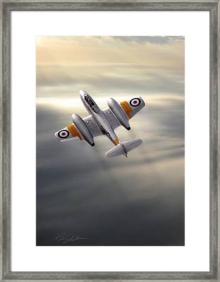 Sunlit Meteor Framed Print by Peter Chilelli