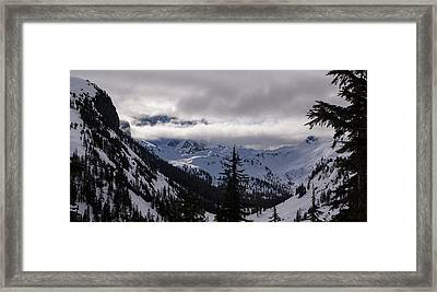 Sunlit Mount Shuksan Framed Print by Mike Reid