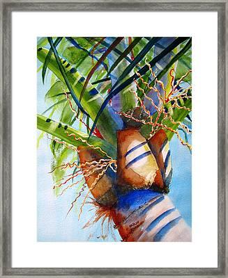 Sunlit Palm Framed Print