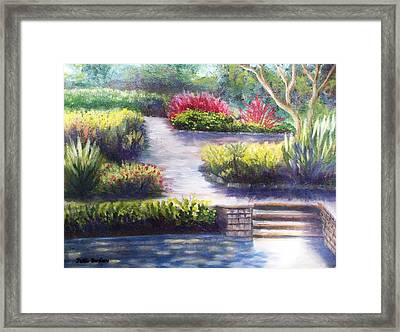 Sunlit Paths Framed Print