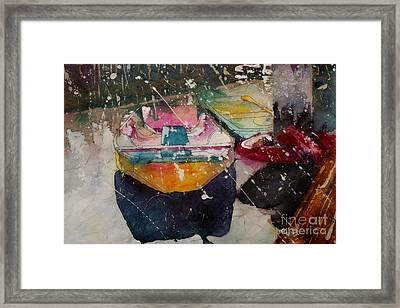 Sunlit Rowboat Framed Print