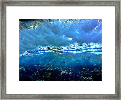 Sunlit Wave Framed Print