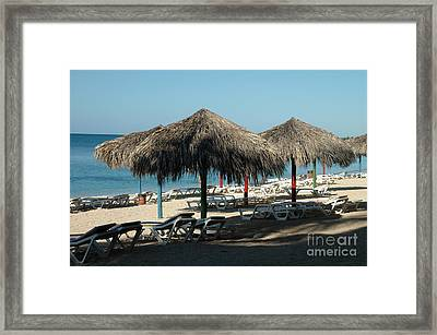 Sunlounger Framed Print