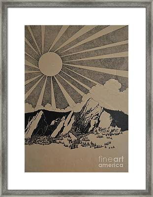 Framed Print featuring the drawing Sunny 300 Days A Year by Stuart Engel