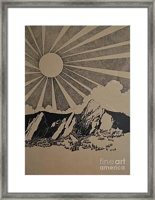 Sunny 300 Days A Year Framed Print