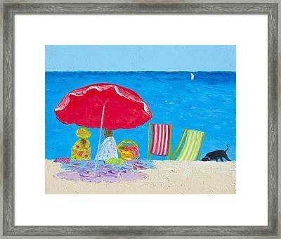 Sunny Afternoon At The Beach Framed Print by Jan Matson