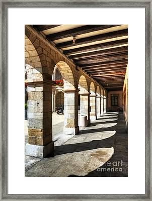 Sunny Arches Of Vienne Framed Print