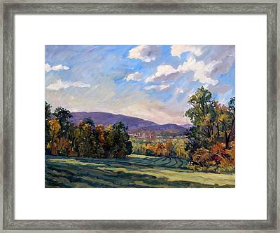 Sunny Autumn Berkshires Framed Print
