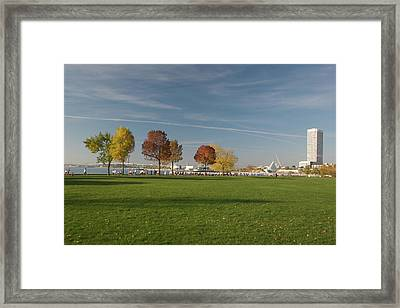 Framed Print featuring the photograph Sunny Autumn Day by Jonah  Anderson