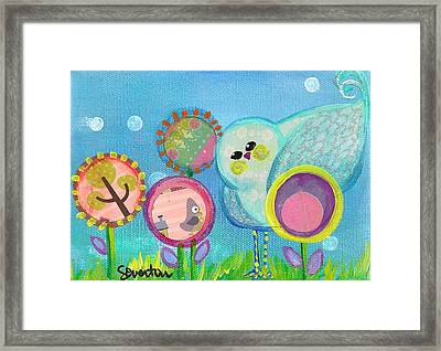 Sunny Birdy And The Dandies Framed Print
