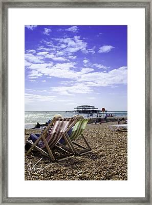 Sunny Brighton Framed Print by Max CALLENDER