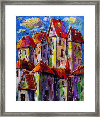 Sunny City Framed Print