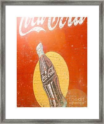 Sunny Coca Cola Framed Print by Sonja Quintero