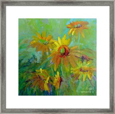 Sunny Daisies Framed Print by Virginia Dauth