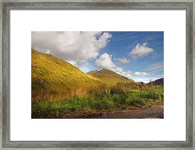 Sunny Day At Rest And Be Thankful. Scotland Framed Print by Jenny Rainbow