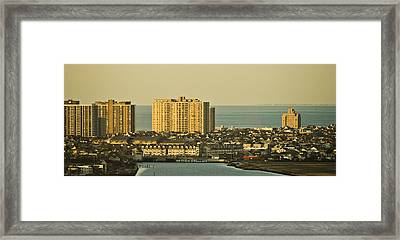 Sunny Day In Atlantic City Framed Print by Trish Tritz