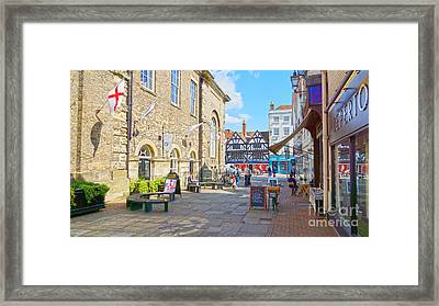 Sunny Day In Salisbury Framed Print by Andrew Middleton