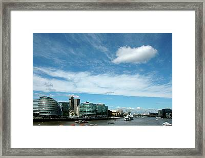 Framed Print featuring the photograph Sunny Day London by Jonah  Anderson
