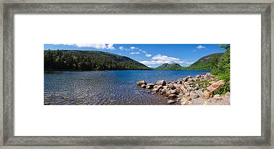 Framed Print featuring the photograph Sunny Day On Jordan Pond   by Lars Lentz