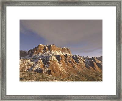 Sunny Day On The Mountains Framed Print by Michael Wimer