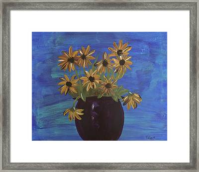 Sunny Day Sunflowers Framed Print by Tatum Chestnut
