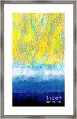Framed Print featuring the digital art Sunny Day Waters by Darla Wood