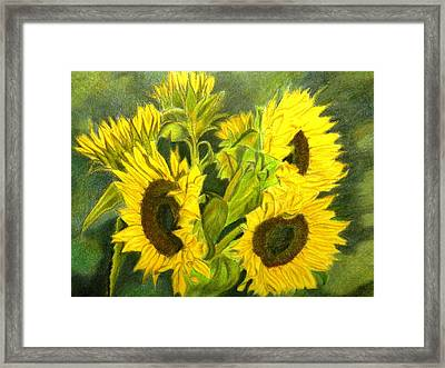 Framed Print featuring the drawing Sunny Days by Lori Ippolito