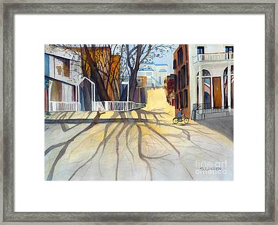 Sunny December Afternoon Framed Print by Sandy Linden